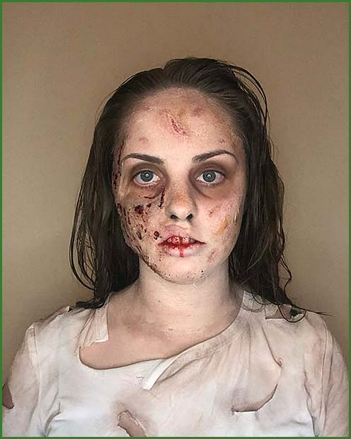 Simple Zombie Makeup