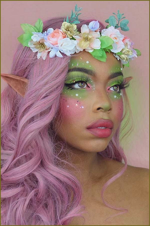 Pretty Floral Fairy Makeup Look