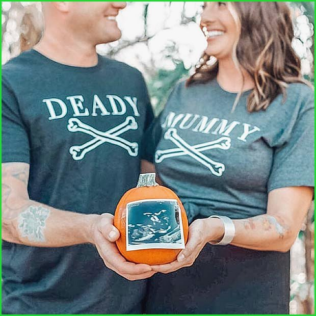 Deady and Mummy T-Shirts for Pregnancy Reveal