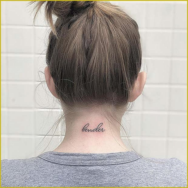 Quote on the Back of the Neck