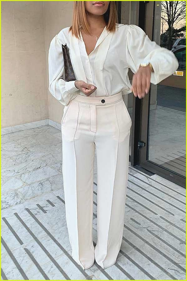 All White Tailored Outift Idea