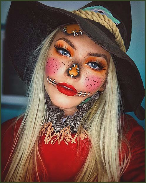 Bright Scarecrow Makeup