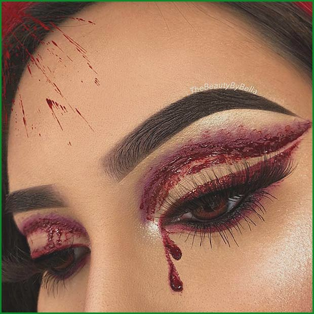 Bloody Eye Makeup