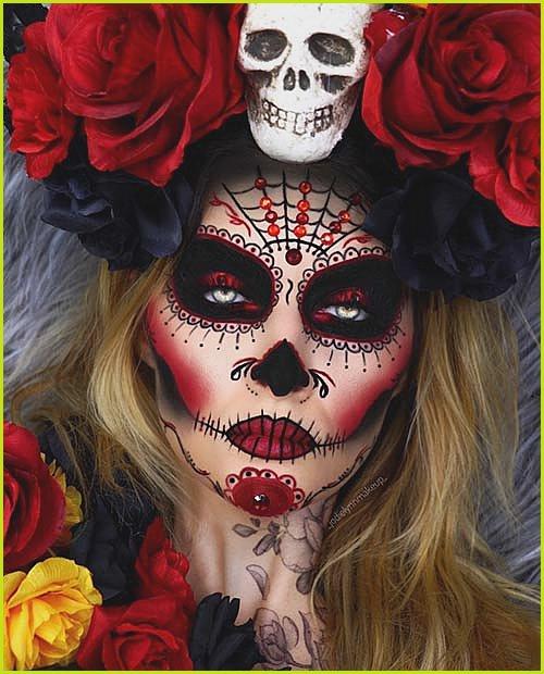 Scary and Stunning Makeup Idea for Halloween