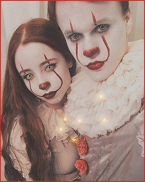 Pennywise Makeup and Costumes for Couples