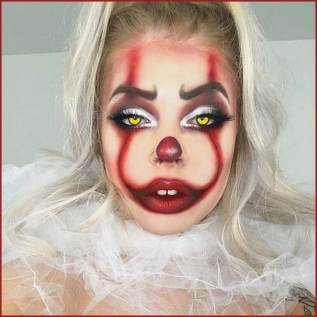 Spooky Pennywise the Clown Makeup