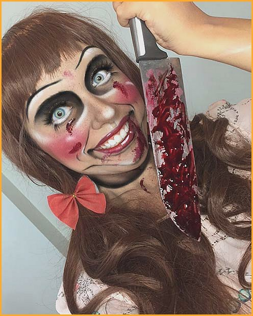Doll Makeup Inspired By Annabelle