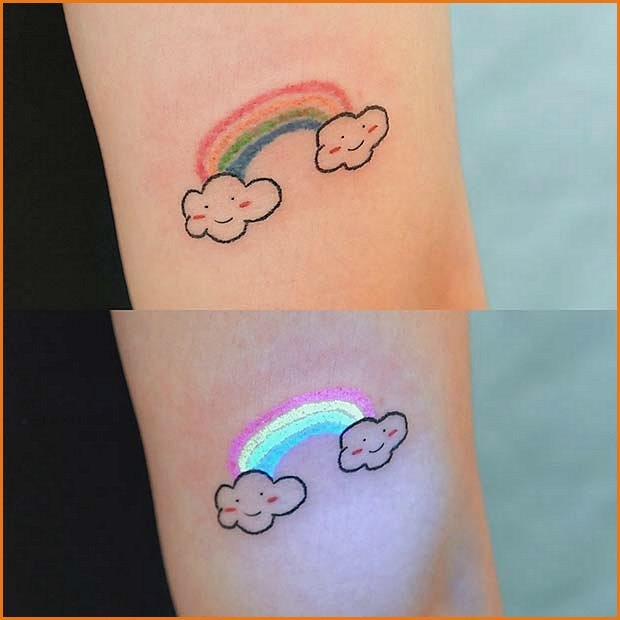 Cute Rainbow Tattoo Design