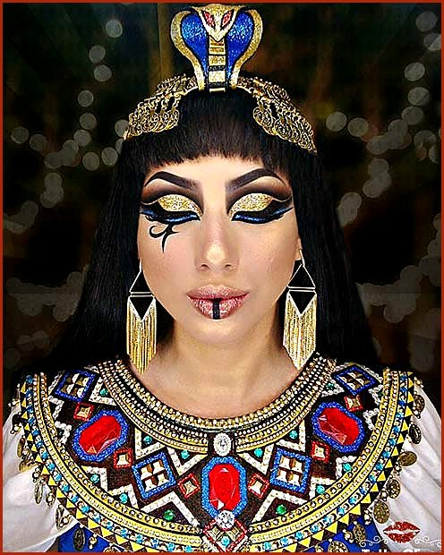 Colorful Cleopatra Makeup