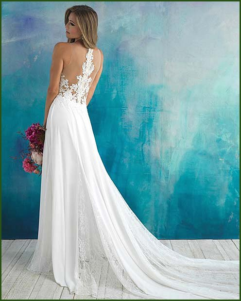 Sexy Wedding Dress with Lace Back