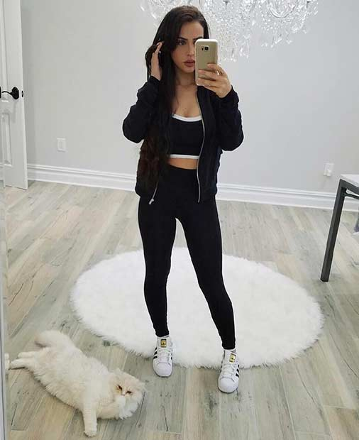 Comfy Black and White Casual Outfit